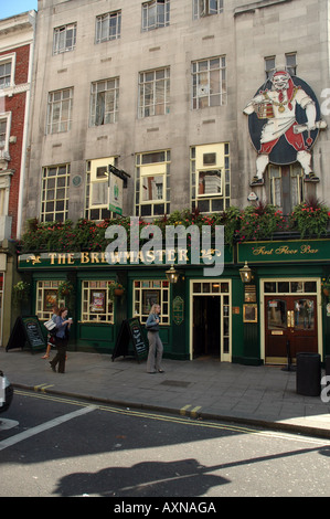 The Brewmaster pub at Leicester Square on Cranbourn Street in London, UK - Stock Photo