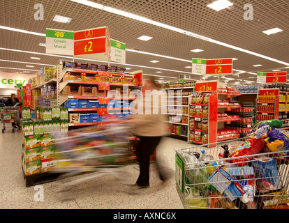 Supermarket shopping - Stock Photo