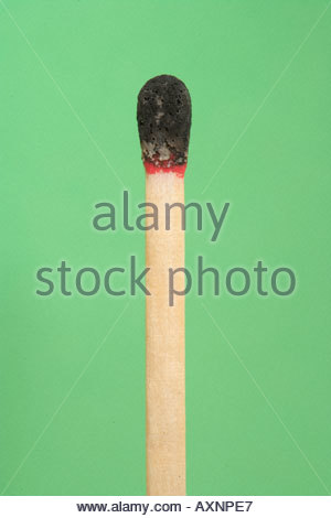 ignited match - Stock Photo