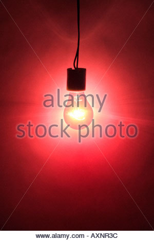 a red light forming an intense wall of light - Stock Photo