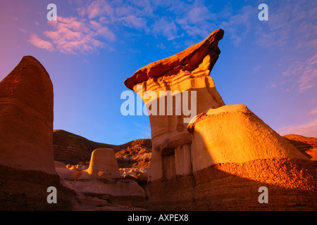 Hoodoos in Alberta - Stock Photo