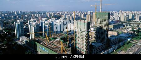 Beijing CBD, China. Panorama. July 29, 2005 - Stock Photo
