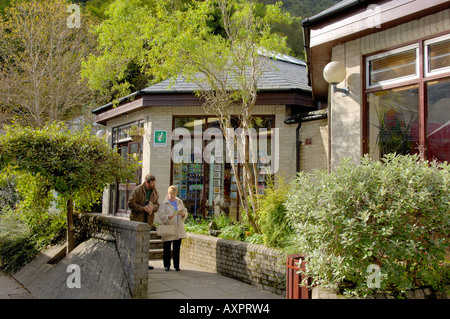 People Corris Craft Centre North West Wales - Stock Photo