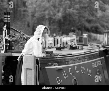 PICTURE CREDIT Doug Blane Narrowboat on the canal - Stock Photo