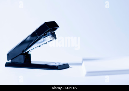 Stapler and paper - Stock Photo