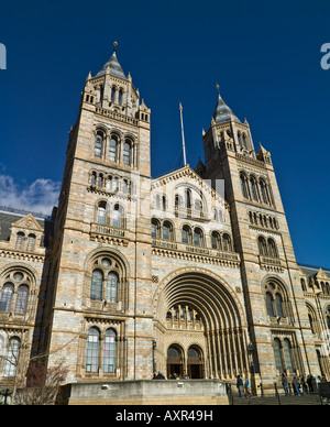 main entrance, Museum of Natural History, London - Stock Photo