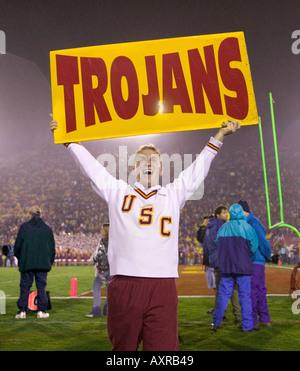USC Yell Leader at football game