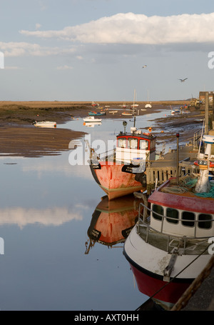 Wells-next-the-Sea quayside, North Norfolk - Stock Photo