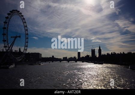 The River Thames London England UK - Stock Photo