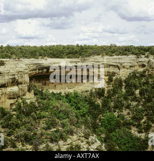 geography / travel, USA, Colorado, Mesa Verde National Park, Spruce Tree House, Anazasi culture (untill 1200 BC), - Stock Photo