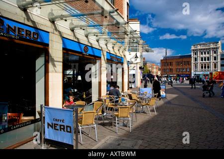 Dovecote Street and Stockton on Tees High Street Teesside North East England - Stock Photo