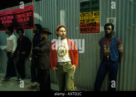 White male  Caucasian Rastafarian man Nottinghill gate west   London 1979 HOMER SYKES - Stock Photo