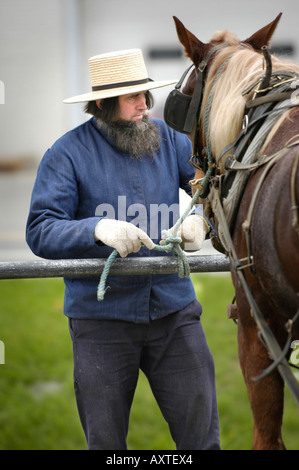 Amish lifestyle in and around Sugarcreek and Millersburg Ohio OH - Stock Photo