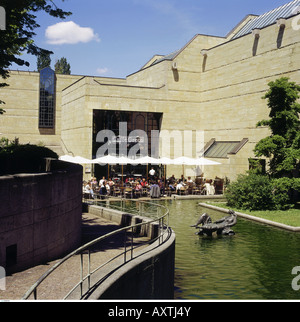 geography / travel, Germany, Bavaria, Munich, Museums, New Pinakothek, exterior view, architecture, modern, museum, - Stock Photo