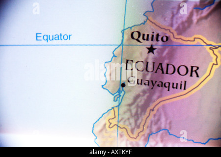 Current Map Of The Country Of Ecuador Located In South America - Where is ecuador located