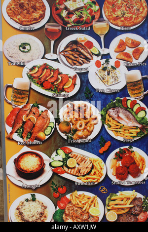 Greek menu with pictures of food at restaurant crete for Apollon greek and european cuisine