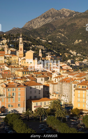 Menton, Alpes Maritimes, Provence, Cote d'Azur, French Riviera, France, Mediterranean, Europe - Stock Photo