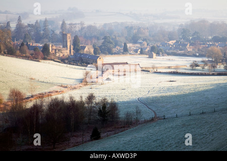 A winter view of Montacute village near Yeovil in Somerset - Stock Photo