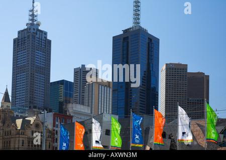 City centre, Melbourne, Victoria, Australia, Pacific - Stock Photo
