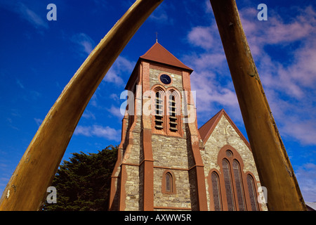 Chris Church cathedral, Stanley, East Falkland, Falkland Islands, South Atlantic, South America - Stock Photo