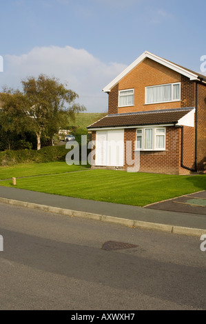 a detached house in  Waunfawr aberystwyth 1960 s suburban housing estate, wales UK - Stock Photo