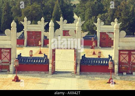 Stone Gates, Temple of Heaven Park, Beijing, China, Asia - Stock Photo