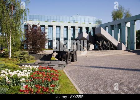 Monument to the Warsaw Uprising (Pomnik Powstania Warszawskiego), Warsaw, Poland - Stock Photo