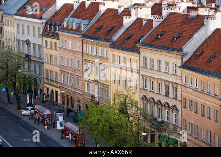 Colourful houses of the The Old Town (Stare Miasto), Warsaw, Poland, Europe - Stock Photo