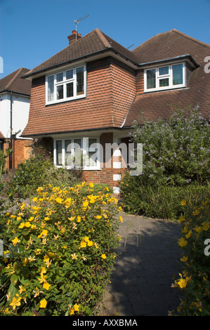 uk england surrey semi detached house in 1930s style - Stock Photo