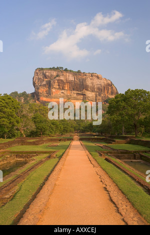 The rock fortress of Sigiriya (Lion Rock), UNESCO World Heritage Site, Sri Lanka, Asia - Stock Photo