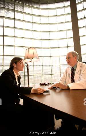 Doctor meets with drug rep, pharmaceutical representative Stock ...