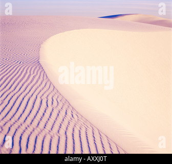 Dunes, White Sands National Park, New Mexico, United States of America (U.S.A.), North America Stock Photo