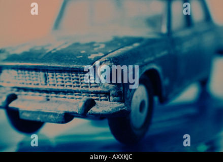 close up Toy car anglia - Stock Photo