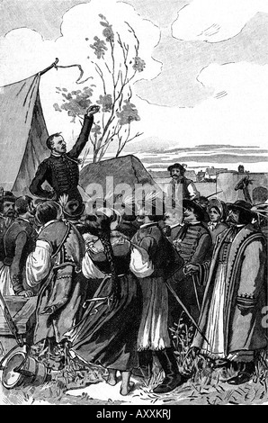 Kossuth, Lajos  16.9.1802 - 20.3.1894, Hungarian politician, appealing to the people to defend the country, July - Stock Photo