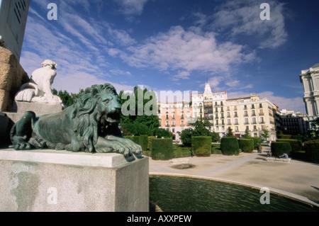 Plaza de Oriente, Madrid, Spain, Europe - Stock Photo