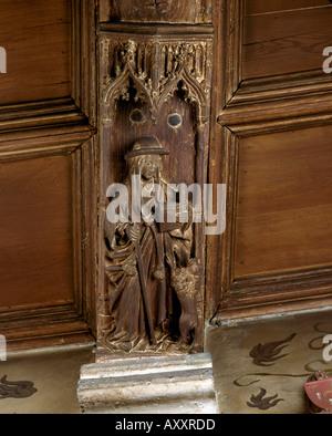 Gent, Muziekconservatorium (Musikkonservatorium), '''De vier Latijnse Kerkvaders'', Gebeeldhouwde Balkzool' - Stock Photo