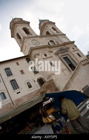 Trinità dei Monti (Rome) - Stock Photo