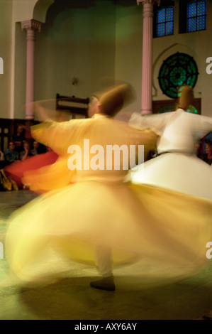 Whirling Dervishes, Sufis dancing, Istanbul, Turkey, Europe - Stock Photo
