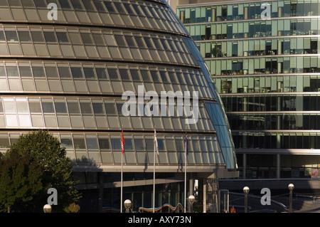 City Hall on the South Bank, London, England - Stock Photo
