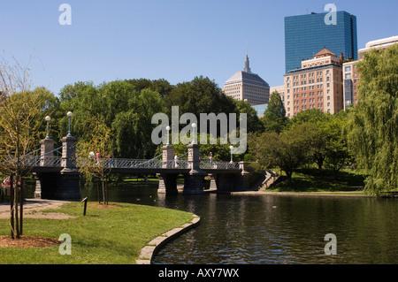 Lagoon Bridge in the Public Garden, Boston, Massachusetts, USA