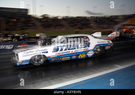 2008 Australian Top Doorslammer Champion, John Zappia, driving his GTS Monaro Doorslammer at an Australian drag - Stock Photo