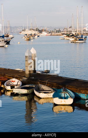 Boats in San Diego Bay, California, United States of America, North America - Stock Photo