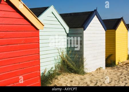 Beach huts, Southwold, Suffolk, England, United Kingdom, Europe - Stock Photo