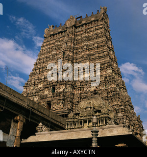 The Great Temple, Madurai, Tamil Nadu state, India, Asia - Stock Photo