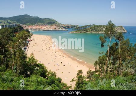 Lekeitio Beach, Euskadi (Basque Country) (Pais Vasco), Spain, Europe - Stock Photo