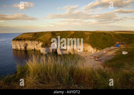 Flamborough Head North landing in Yorkshire - Stock Photo