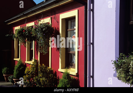 EYERIES COUNTY CORK REPUBLIC OF IRELAND EU September A small village of colourful houses on the Beara Peninsula - Stock Photo