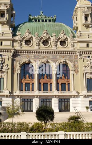 Casino, Monte Carlo, Principality of Monaco, Cote d'Azur, Mediterranean, Europe - Stock Photo