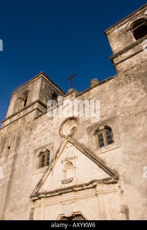 Mission Concepcion in the San Antonio Missions National Historic Park Texas USA - Stock Photo