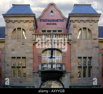 Facade of the museum by the German Inland Shipping Traffic, Germany, North Rhine-Westphalia, Ruhr Area, Duisburg - Stock Photo